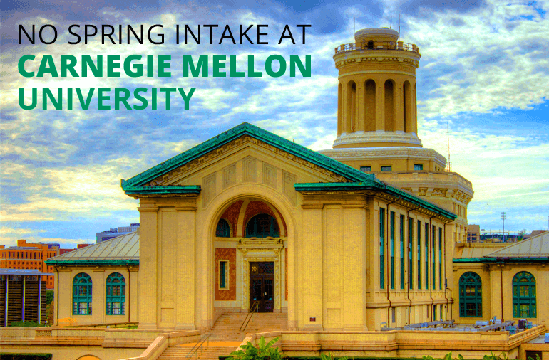 No spring intake at carnegie mellon university